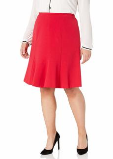 NINE WEST Women's Plus Size Stretch Flare Skirt  W