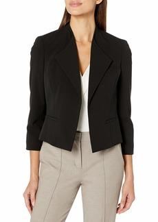 NINE WEST Women's Stretch Wide Lapel Flyaway Jacket  XS