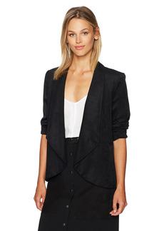 NINE WEST Women's Wing Collar Suede Fly Away Jacket