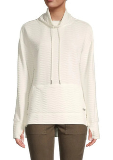 Nine West Textured Drawstring Funnel Neck Sweater
