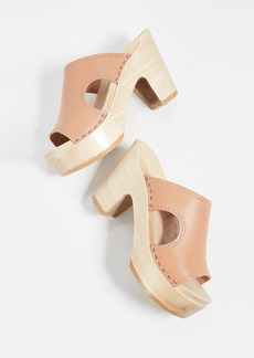No.6 Alexis Cutout Platform Clogs