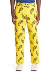 Noah Floral Paisley Pleated Chino Pants (Nordstrom Exclusive)