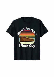 Vintage Circle Featuring Noah's Ark - Need An Ark I Noah Guy T-Shirt