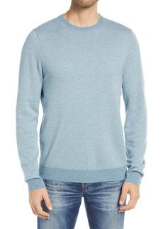 Men's Big & Tall Nordstrom Bird's Eye Crewneck Sweater