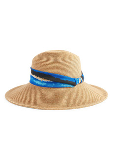 Nordstrom Abstract Stripe Band Straw Hat