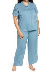 Nordstrom Bridgette Woven Two-Piece Pajama Set (Plus Size)
