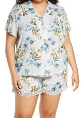 Nordstrom Floral Crochet Lace Short Pajamas (Plus Size)
