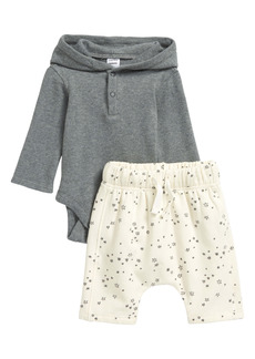 Nordstrom Hooded Bodysuit & Print Pants Set (Baby)