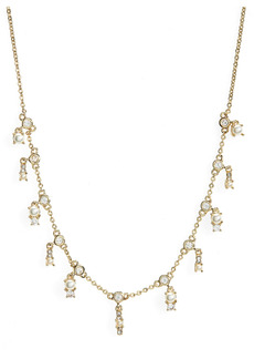 Nordstrom Imitation Pearl and Cubic Zirconia Collar Necklace