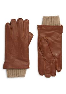 Nordstrom Leather Cashmere Lined Gloves