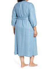 Nordstrom Linen Blend Robe (Plus Size)