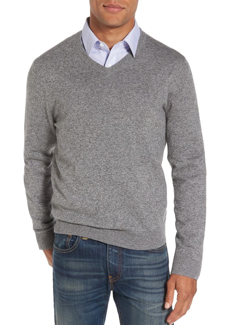 Nordstrom Men's Shop Cotton & Cashmere V-Neck Sweater