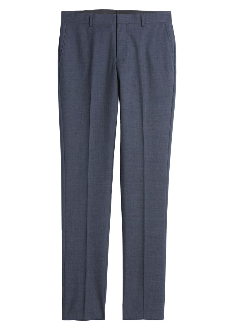 Nordstrom Trim Fit Flat Front Mélange Dress Pants