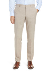 Nordstrom Trim Fit Flat Front Mélange Dress Pants