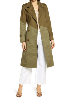 Nordstrom Pieced Colorblock Trench Coat