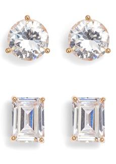Nordstrom Set of 2 Cubic Zirconia Stud Earrings