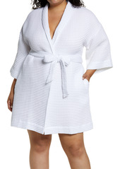 Nordstrom Short Waffle Knit Robe (Plus Size)