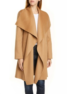 Nordstrom Signature Cascade Collar Double Face Wool & Cashmere Coat