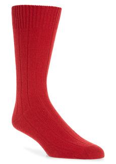 Nordstrom Stretch Cashmere Rib Crew Socks