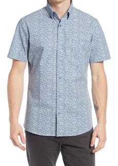 Nordstrom Tech-Smart Floral Short Sleeve Button-Up Shirt