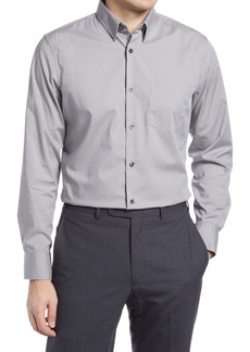 Nordstrom Trim Fit Non-Iron Stretch Chambray Button-Up Shirt