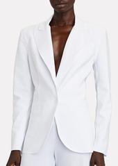 Norma Kamali Bonded Jersey Blazer