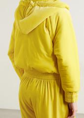 Norma Kamali Hooded Padded Velvet Jacket