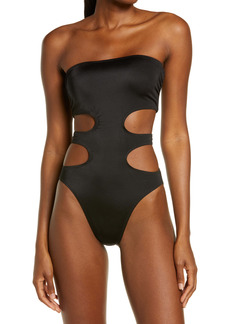 Norma Kamali 11/11 Mio Cutout Strapless One-Piece Swimsuit