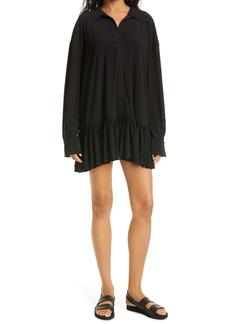 Norma Kamali Boyfriend Long Sleeve Minidress