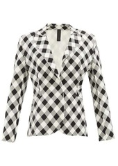 Norma Kamali Gingham stretch-jersey jacket