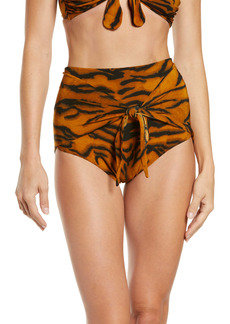Norma Kamali High Waist Swim Bottoms