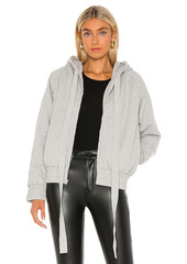 Norma Kamali Hooded Bomber Jacket