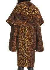 Norma Kamali Leopard Print Coat