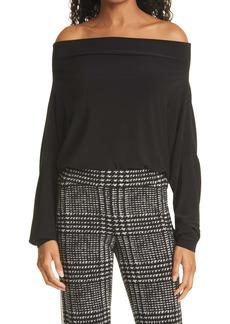 Norma Kamali Long Sleeve Off the Shoulder Bodysuit