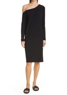 Norma Kamali Long Sleeve Off the Shoulder Shift Dress