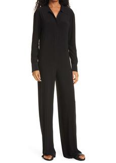 Norma Kamali Long Sleeve Straight Leg Jersey Jumpsuit
