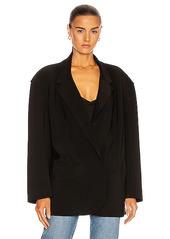 Norma Kamali Oversized Double Breasted Jacket