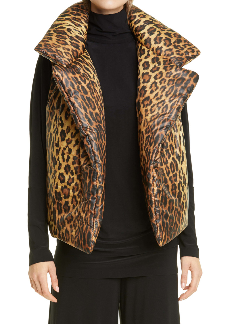 Norma Kamali Print Sleeping Bag Vest