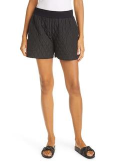 Norma Kamali Quilted Boyfriend Shorts