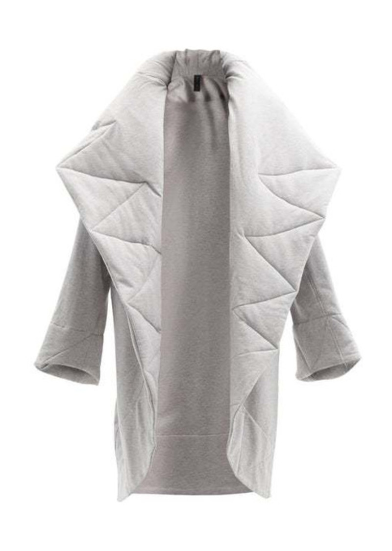 Norma Kamali Quilted shawl-lapels cotton-blend jersey coat