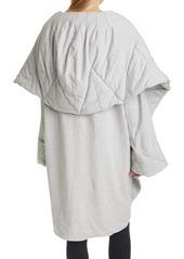 Norma Kamali Shawl Collar Hooded Coat