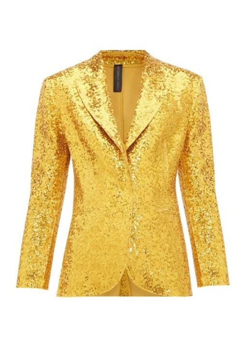 Norma Kamali Single-breasted sequin blazer