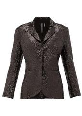 Norma Kamali Single-breasted sequinned jersey blazer