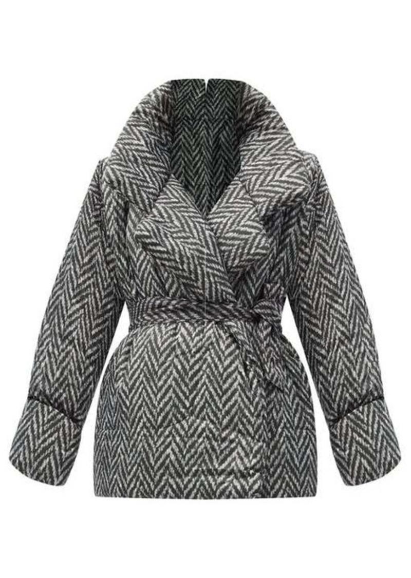 Norma Kamali Sleeping Bag herringbone-print padded coat