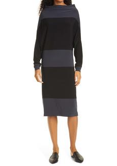 Norma Kamali Spliced All In One Long Sleeve Dress