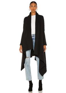 Norma Kamali Uneven Blanket Coat