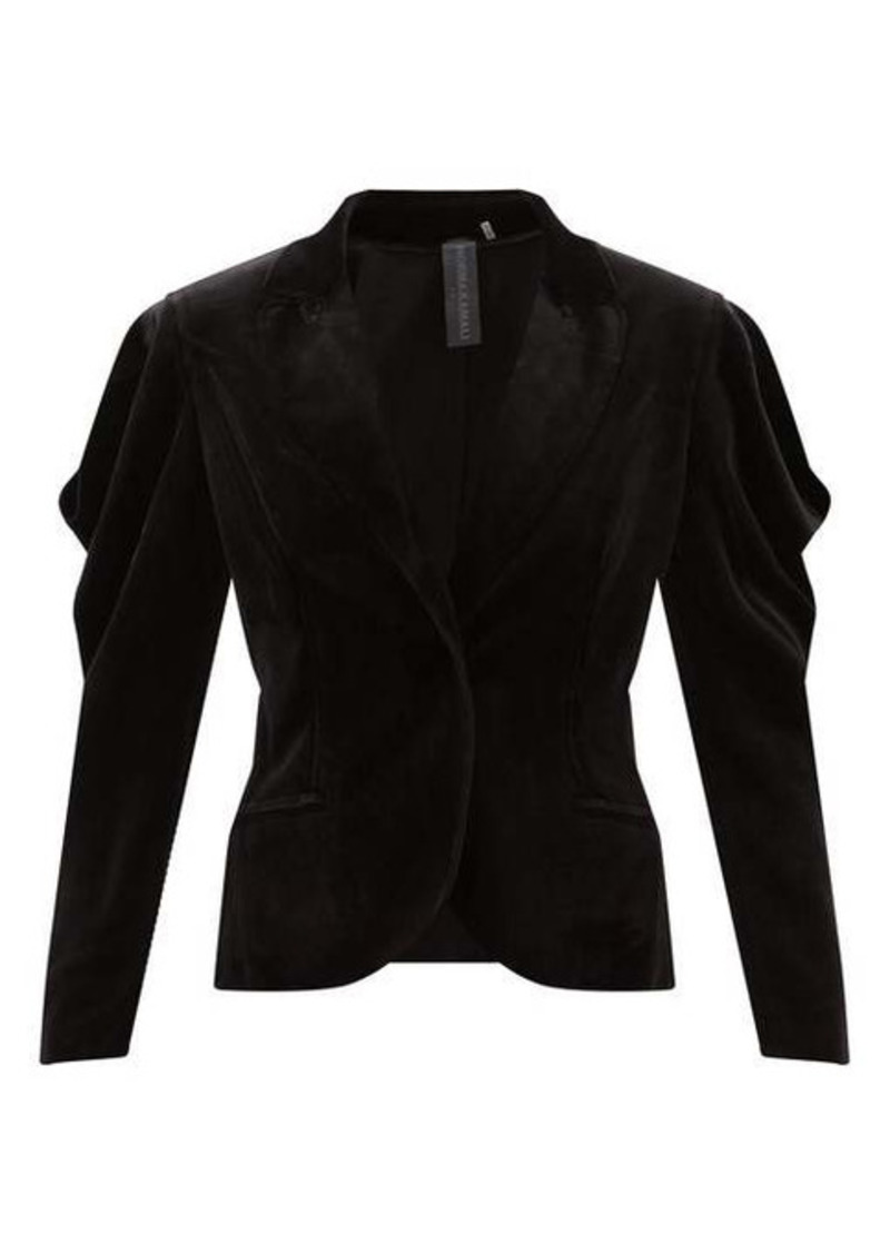 Norma Kamali Wing cotton-blend velvet jacket