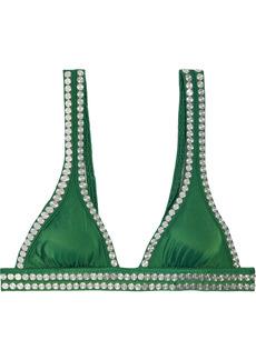 Norma Kamali Woman 17 Banded Studded Bikini Top Sage Green