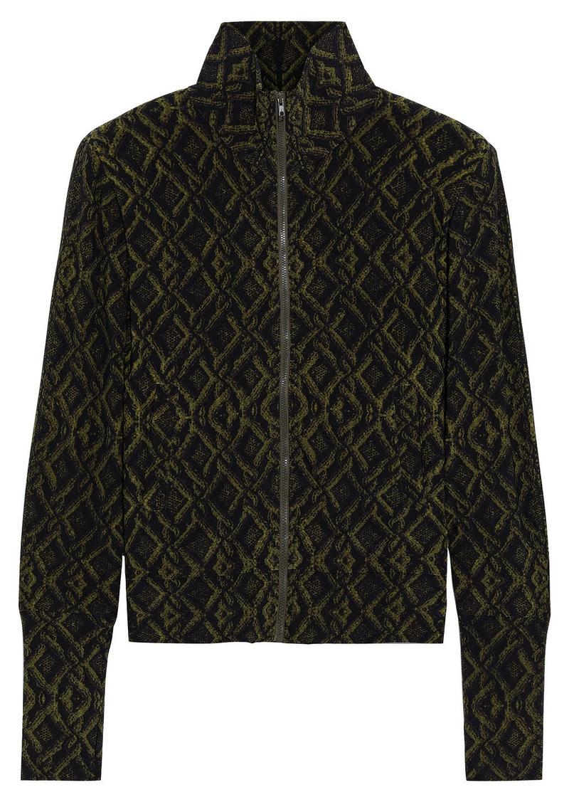 Norma Kamali Woman Printed Stretch-jersey Jacket Black