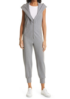 Norma Kamali Zip Front Hooded Jumpsuit